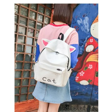 Korean version harajuku high school student canvas backpack