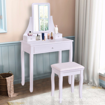Modern Wood Dressing Table Wood Furniture Design mirrored Dresser Table with stool