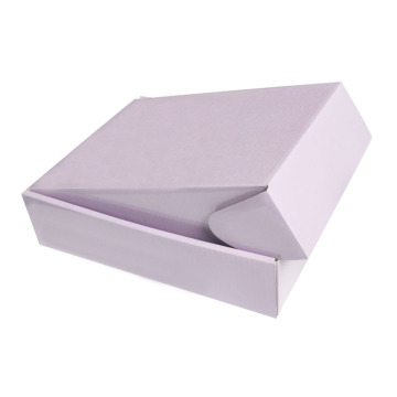 Light Pink Folding Die Cutting Corrugated Paper Box