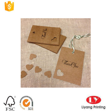 Fashion Kraft Paper Printed Tag for Clothes