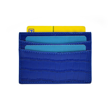 Personalized Crocodile Leather Business Credit Card Holder
