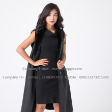 Lady Black Fashionable Mink Vest