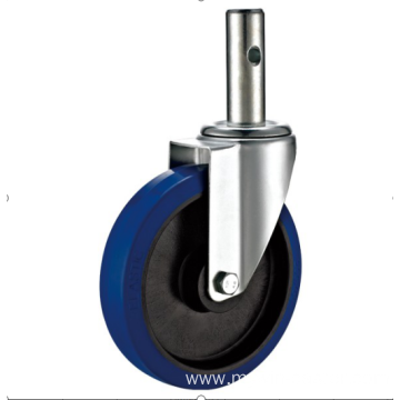 200mm threaded stem   European industrial rubber  swivel caster without  brake