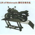 Single post lift of motorcycle