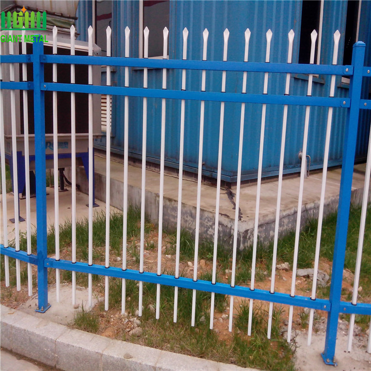 Powder Coated Security Zinc Steel Fence