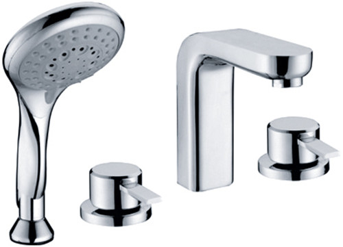 Bathtub Faucet Three Holes Hand Shower Tap