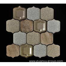 Beige Background Porcelain Wall Paving Mosaic