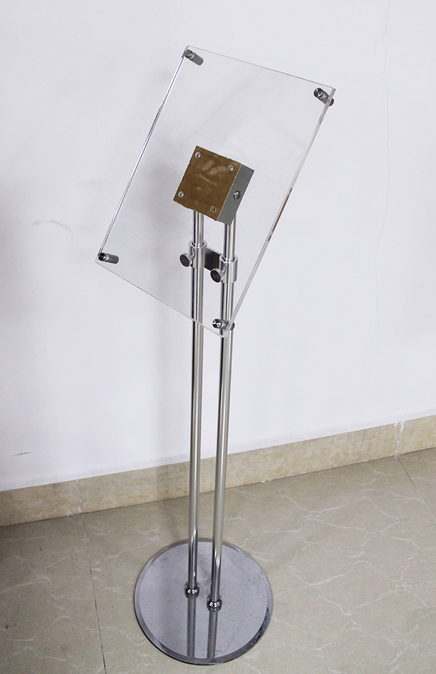 Acrylic Floor Brochure Holder Magazine Stand 12