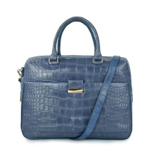 Handmade Crocodile Durable Women Laptop Business Bag