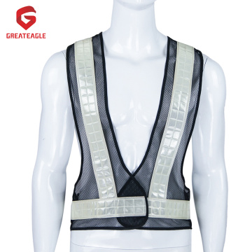 Reflective Vest with Crystal Tapes
