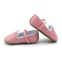 Hot sale for Cute Fancy Baby Girls Dress Shoes Party Mary Jane | Babyshoes.cc Light Pink Genuine Leather Baby Soft Shoes Toddler export to South Korea Manufacturers