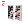 36 pair black and white hanging over door shoe rack organizer