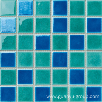 Color Mixed Porcelain Mosaic Tile