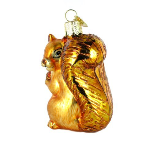 Squirrel Shaped Blown Customized Christmas Glass Ornaments