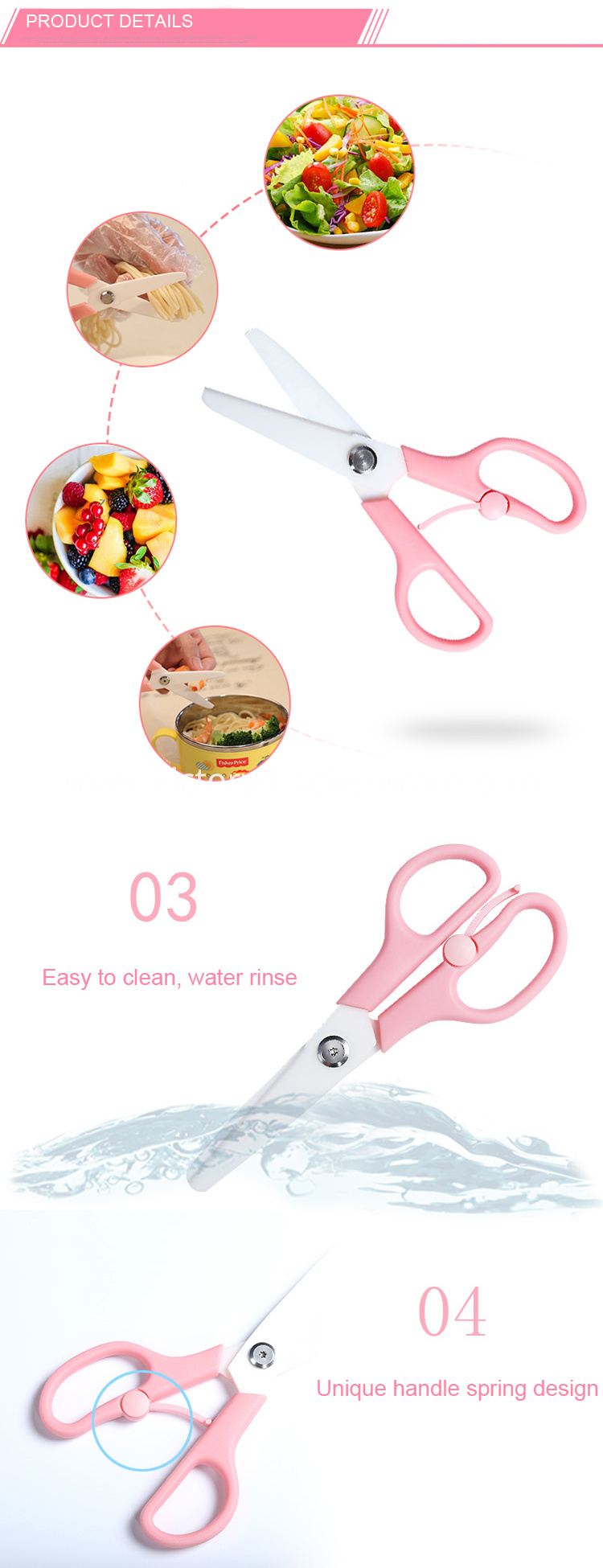 Baby food safety scissors