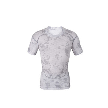 custom printed sports gym fit skin compression tshirt