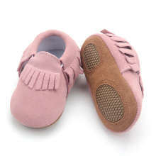 Leather Soft Sole Infant Baby Moccasins Newborn