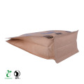 Food Ziplock Compostable Paper Box Bottom Bag for Coffee Factory China