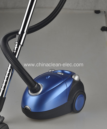 mini blue bagged vacuum cleaner