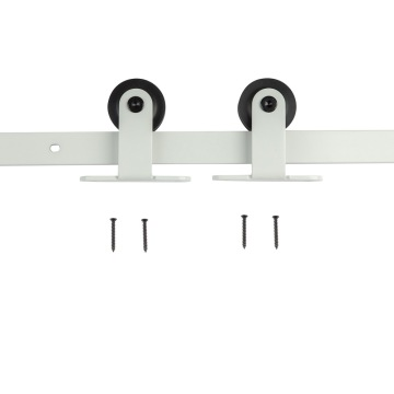 White painting sliding barn door hardware kits