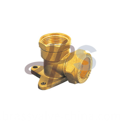 Brass 90 Degree Wall Plate Elbow