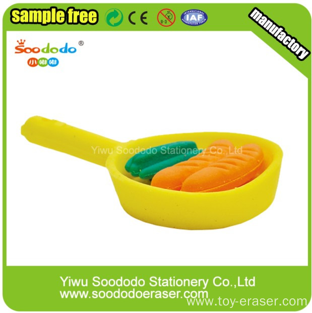 3D Pan Eraser Office Stationery