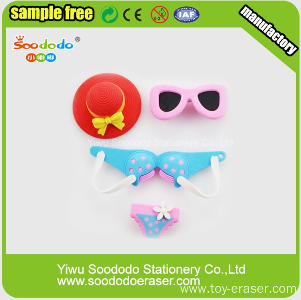 Promotional Custom Made Girl Cloth Eraser