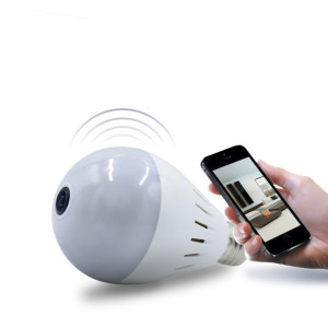Indoor Security Hidden Light Bulb Wifi Camera