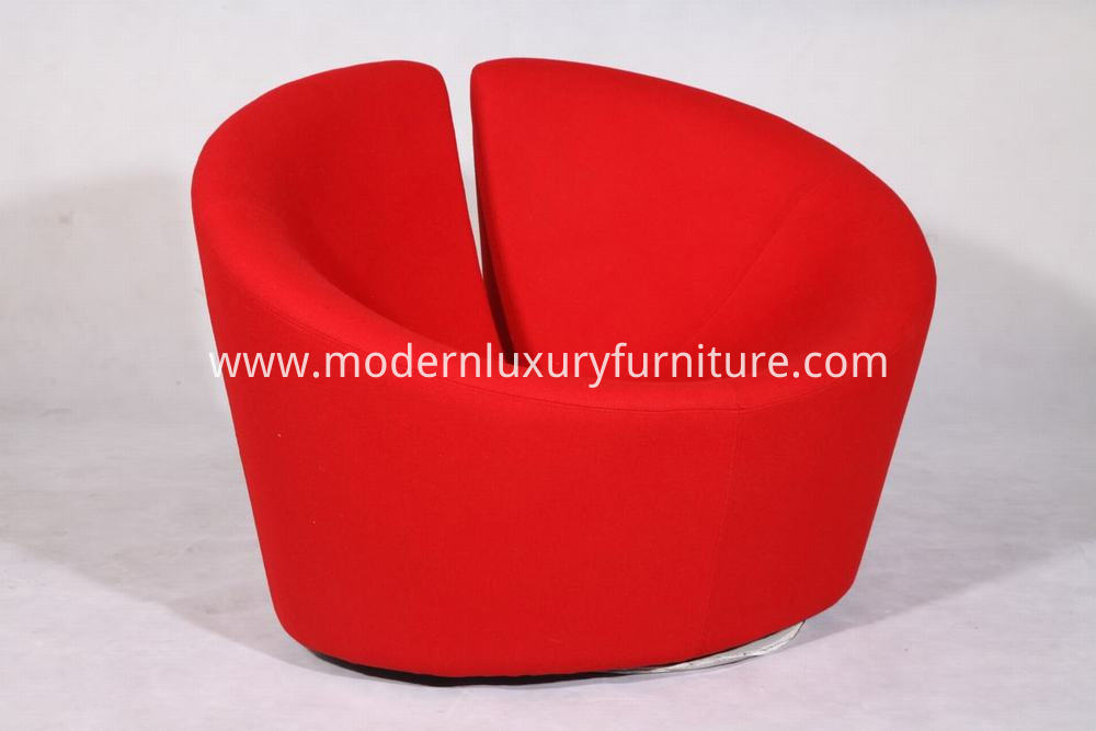 red woolen fabric truelove chair