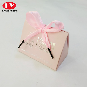 Pink Bag shape lipstick paper box packaging