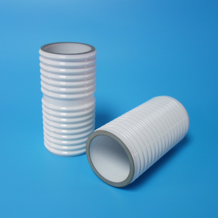 Glazed metallized ceramic cylinder