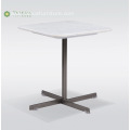 Light Marble Flat CoffeeTable With Metal Legs