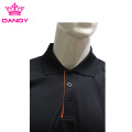 Rib Knitted Cuff Black Polo For Men