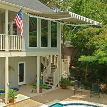 retractable patio awning window
