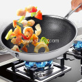 Walang usok 304 Double-sided Full-screen Stainless Steel Pan