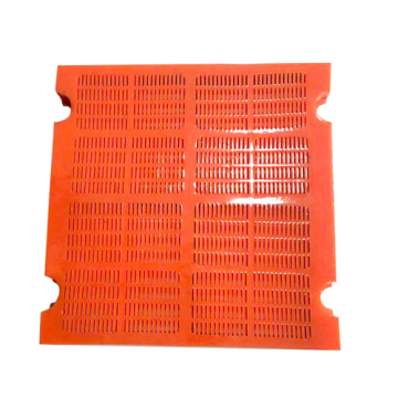 Polyurethane dewatering screen mesh for mining and quarry
