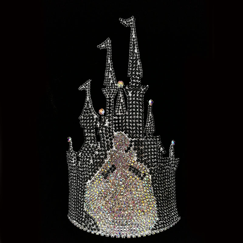 Princess Castle Queen Rhinestone Crown Tiara