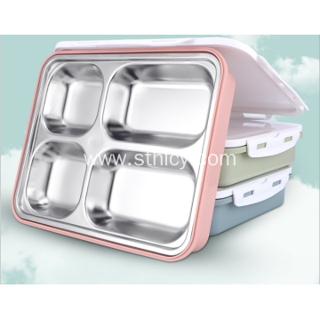 Stainless Steel Heat Preservation Lunch Box 5 Colours