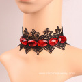 Black Choker Necklace 90s Fashion Lace Diamond Choker