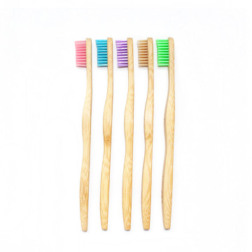 Adult Size Custom Logo Private Label Bamboo Toothbrush