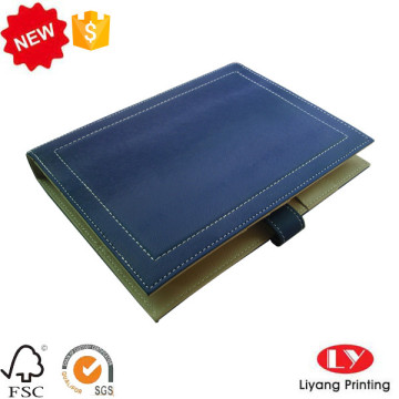 Leather cover office notebook with magnet