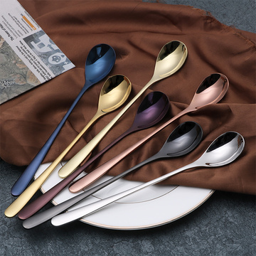 Food Grade Stainless Steel Gold Coffee Stirring Spoon