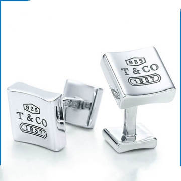 Customized Luxurious Cufflinks Engraved Logo Men's Cufflinks