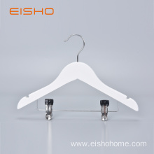 EISHO Child Wood Hanger With Clips