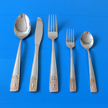 5 Pcs Stainless Steel Flatware Set