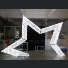 3D LED Christmas Ornaments Acrílico Star Motif Lights
