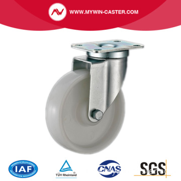 White PP Medium Duty Industrial Caster With Side Brake