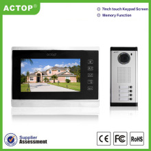 7 inch memory touch button two way intercom system