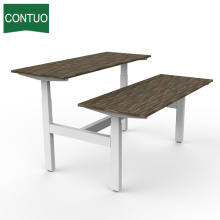 China Manufacturers for Standing Computer Desk Office Computer Desk With Lift Metal Leg Frame export to Bermuda Factory