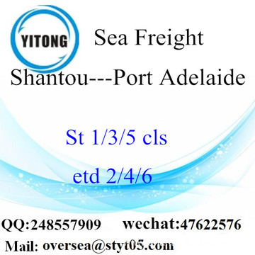 Shantou Port LCL Consolidation To Port Adelaide